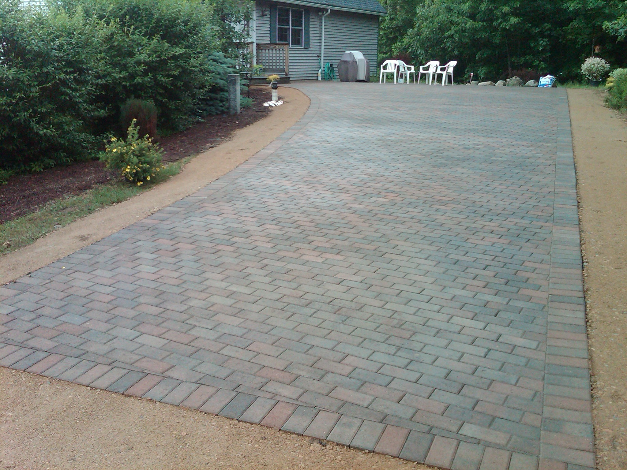 hardscapes-brick paver driveway installation-after